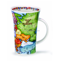 2016 ceramic tall cup with map design wholesale hunan factory