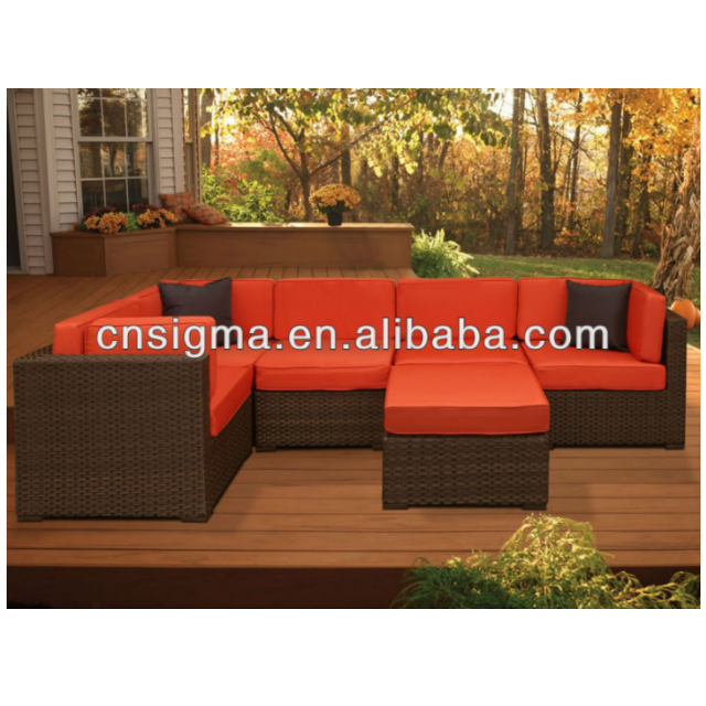 2017 Trade Assurance hot sale comfortable bellagio resin wicker rattan garden sofa set furniture