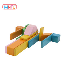 MNTL-8 Pieces China 3D Puzzle Educational DIY Wooden Kids Toy Magnetic Construction Building Blocks