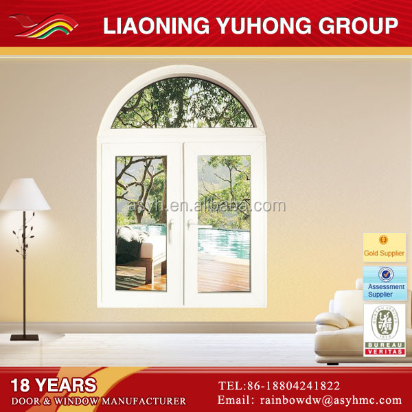 window with big oval glass