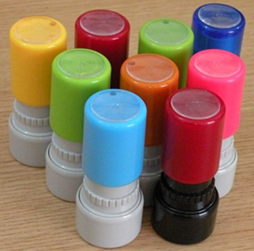 office seal self inking stamp&pre-inked pocket flash foam stamp