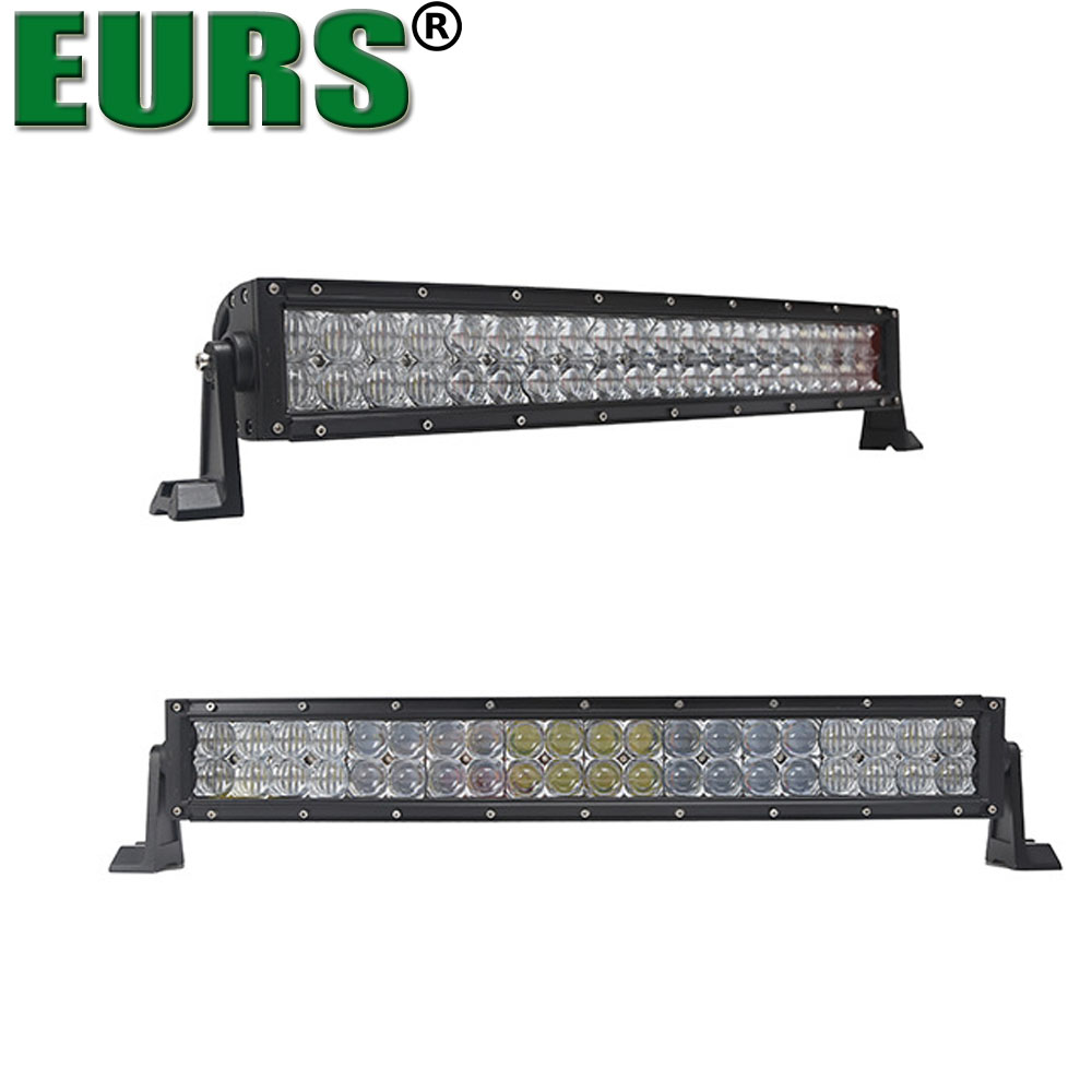 EURS 2017 super bright PC 5D 6000K 120W Double rows led light bar bulb