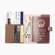 wholesale fashion high capacity travel organizer leather passport holder wallet