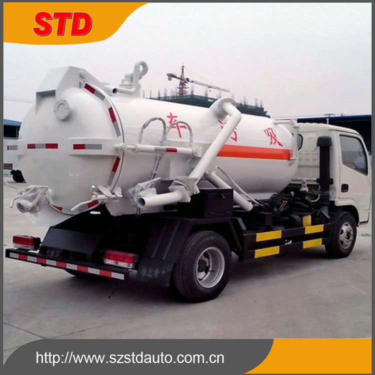 Alibaba China 9 tons sewage suction truck/special vehicle