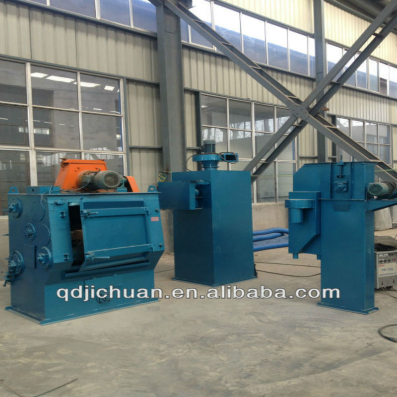 japan small leaf spring shot blasting machine