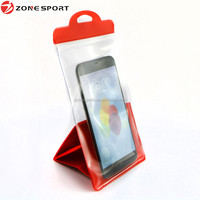 2016 new design pvc support waterproof bag for mobile phone, special fit for kitchen waterproof case
