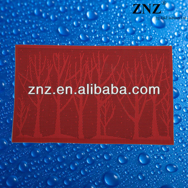 ZNZ PVC coated woven placemat for restaurant
