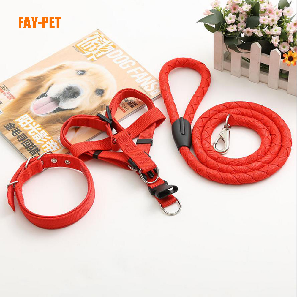 Three-piece suit truelove pet dog collar leash harness xx vedio amazon hot selling dog leash harness
