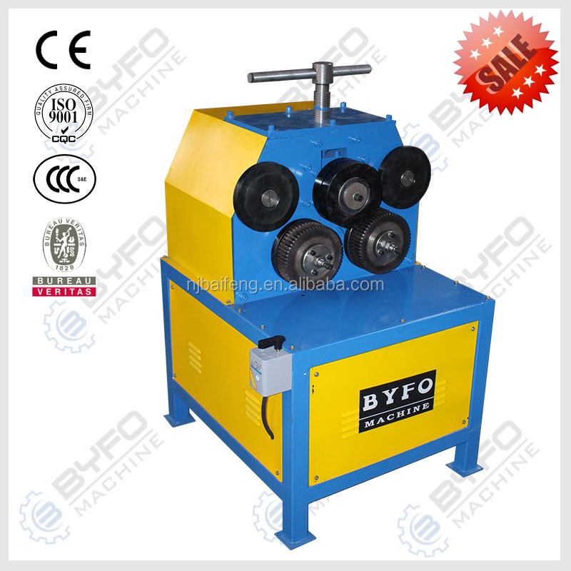 Angle iron roller machine , angle flange / channel letter roll bending machine