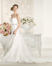 Lace wedding dress fish tail wedding gown