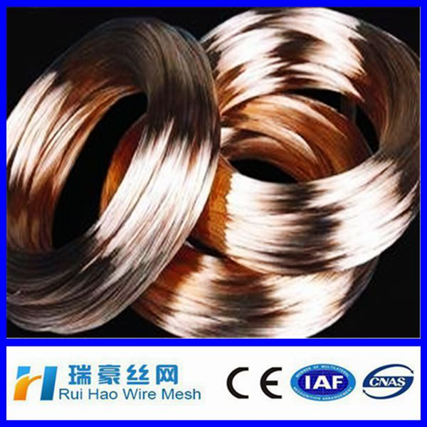 Anpping hot sale /100kg,250kg/drum brass wire / cooper wire