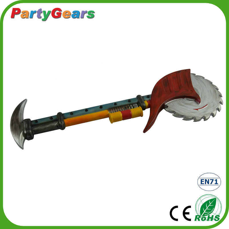 Safety & High Quality PU Foam Halloween Cosplay Saw Prop Weapon
