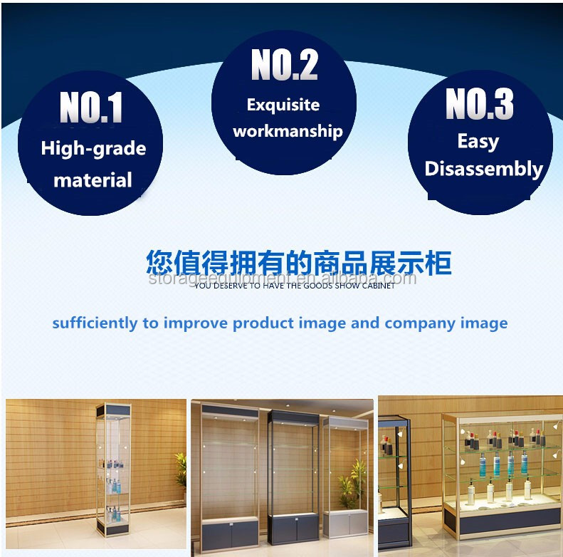 2017 Modern New Countertop glass Display Case for jewelry shop