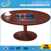 Modern wooden round tea table coffee table designs for living room furniture CT012