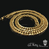new gold neck chain design stainless steel gold cuban link chain for men