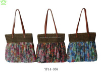 silk fabric women bags