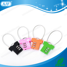 AJF 3 digits promotional t-shirt shaped luggage travel combination padlock