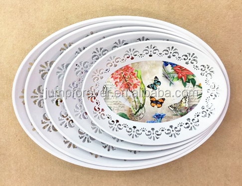 2016 New Flower Logo Gift Cheap Wholesale Plastic Dinner Plates