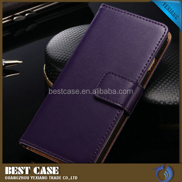 China alibaba leather case for samsung galaxy j1ace Genuine Real cell phone cover
