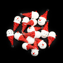 16*37mm lampwork glass snowman beads
