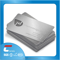 factory Engraved metal sliver card/ membership cards/metal business cards china