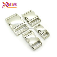 hardware metal side quick release curved buckles for pet dog collar