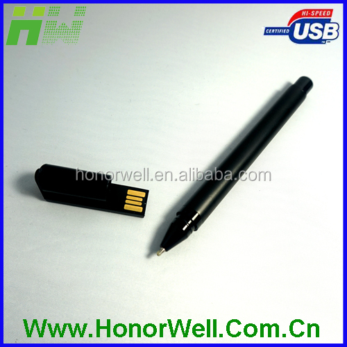 Plastic pen shape usb flash stick disk pen drive customized logo for gift or use
