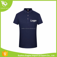 Men Rib Collar Double Mercerized Polo T Shirt For Wholesale