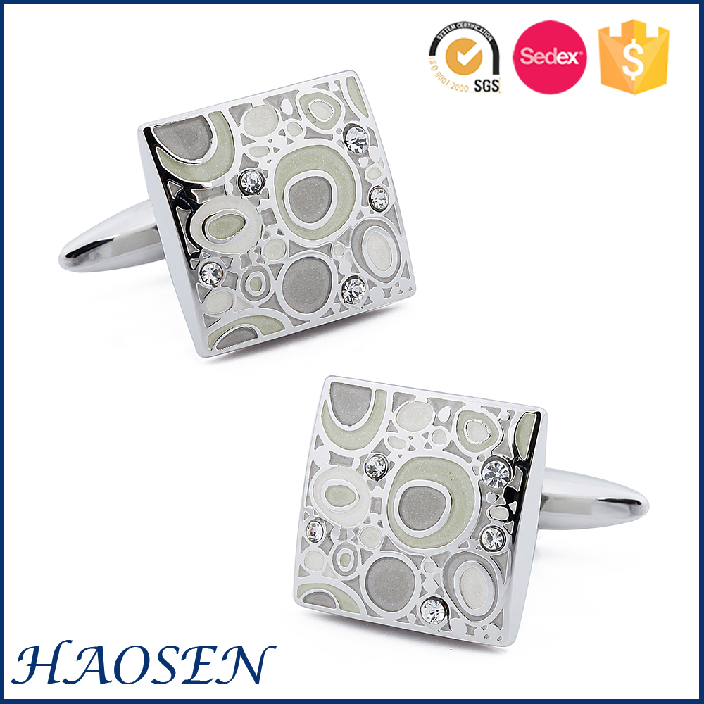 Gifts Top Grade Advertising Promotion Fashion Design Crystal Cuff Links