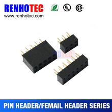 customized 1.27 pitch 2.54 pitch pin header support free oem design