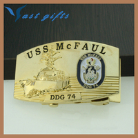 USS Mcfaul 74 BELT BUCKLE WHOLESALER