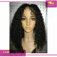 "Free shipping 10""-26""full lace wig 7a Real soft fashion tangle free kinky curly human hair wigs for black women"