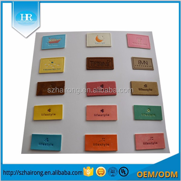 3d Custom clothes stickers silicone rubber label