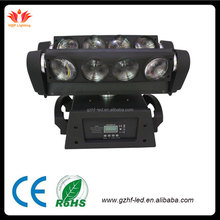China suppliers 8pcs Quad 4 in1 RGBW 8*10W led disco dj lights moving head beam spider light