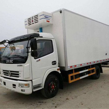 Mobile Frozen Fish / Meat / Vegetables Refrigerated Container Truck for sale