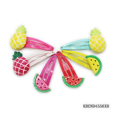 2017 hot selling fruit snaps watermelon hair clips pineapple barrette