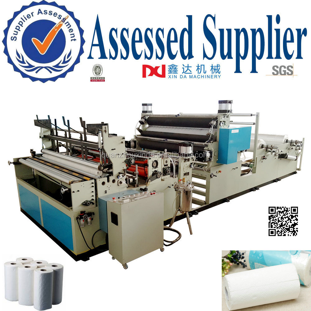 China machines used to make kitchen paper towel gluing paper manufactures