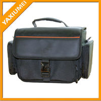 Fancy digital dslr old camera bag with leather