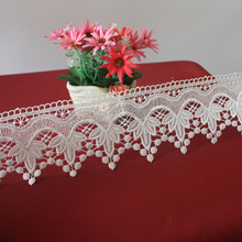 100% Polyester Embroidery Lace Trim For Home Textile