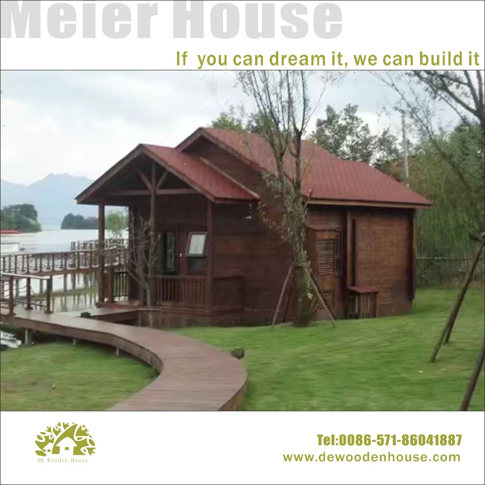 Good quality wooden prefabricated log cabin house for vocation