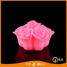 Professional made super quality paraffin wax white led craft candle