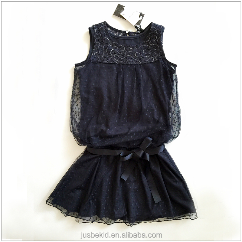 2016 Baby Dress Designer Chiffon Dress For Children Kids Without Sleeve