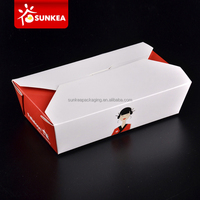 Customized printing food grade disposable paper fast food/deli box