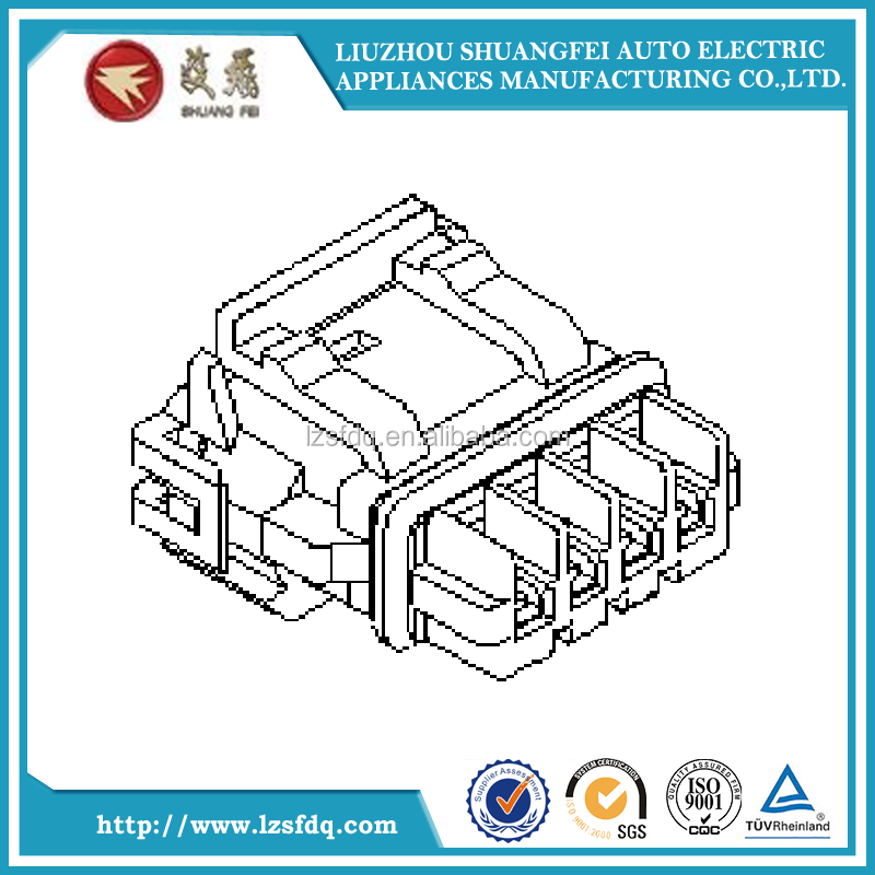 52117-0411 Housing 2.50mm Pitch Waterproof Connector for Wire-to-Wire Receptacle Housing, 4 Circuits