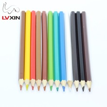 "3.5"" Length Eco Friendly Wood Promotional 12 Colors Kids DIY Drawing Mini Color Pencil"