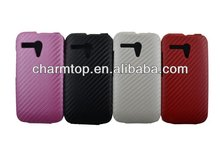 Carbon Fiber Flip Leather Case For Moto G