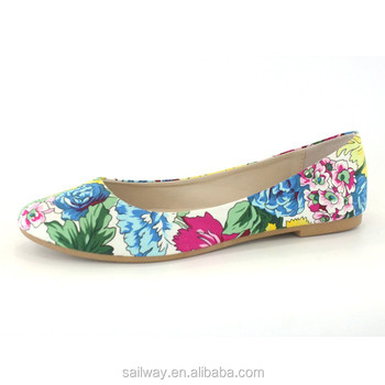 2016 flower upper lady ballerina shoes