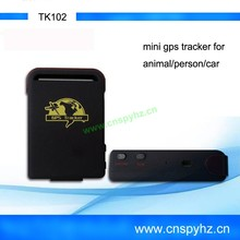 hot selling mini GPS car Tracker, Multifunctional GPS for car TK102 4 bands GSM/GPRS/GPS Tracking
