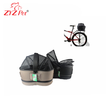 Recycled pet bag dispenser car or bike package carrier cradle car package