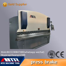 WC67Y-160/4000 Nantong MTR plate hydraulic manual press brake machine bender